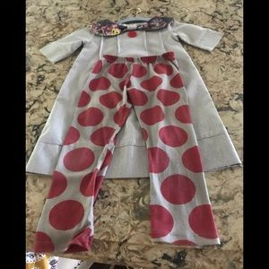 Persnickety 2 piece dress and leggings sz 5